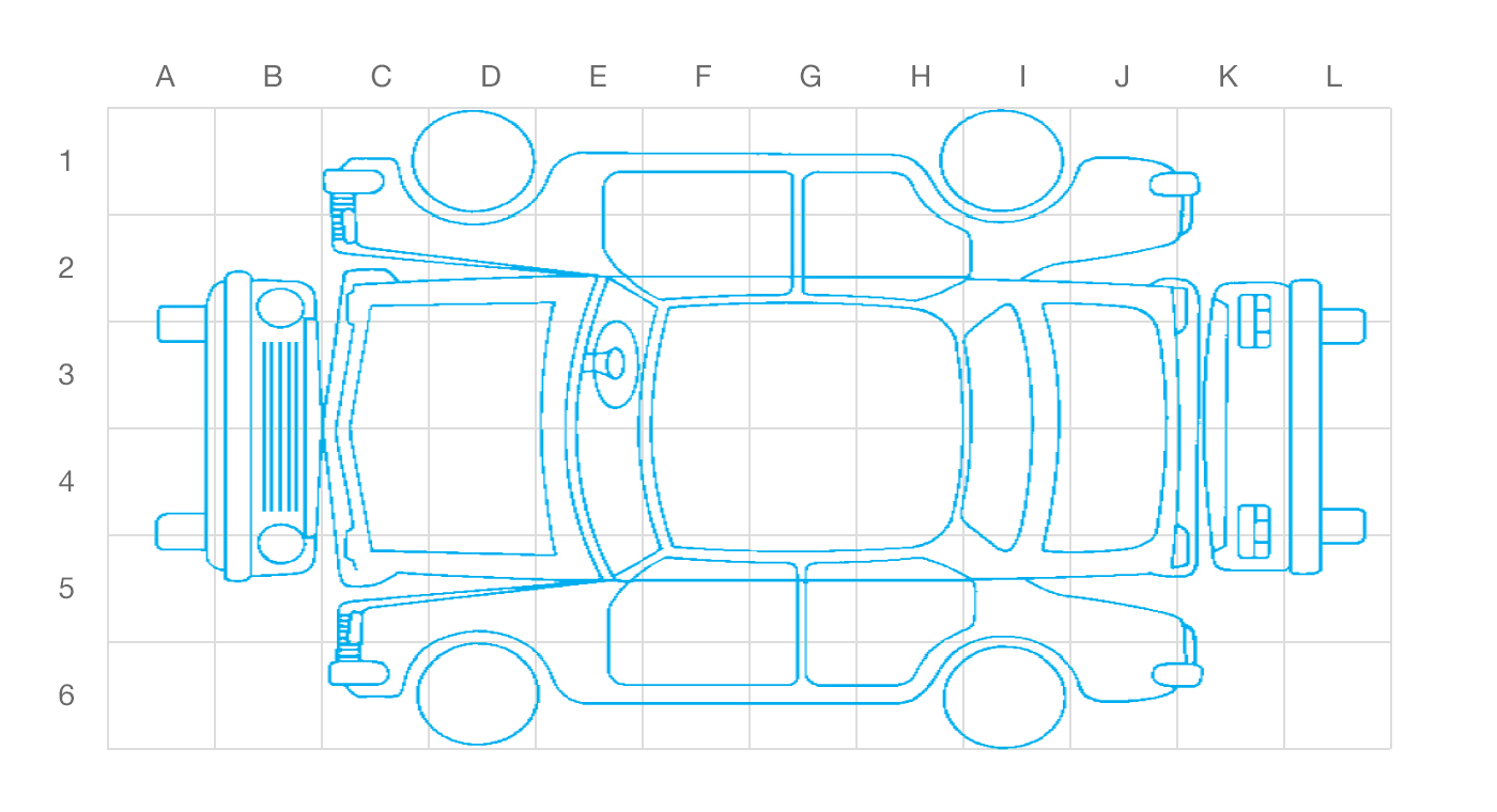 vehicle damage diagram pictures to pin on pinterest suv damage diagrams suv damage diagram #1